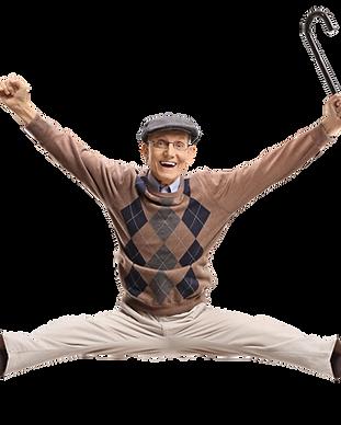 Senior Gent jumping