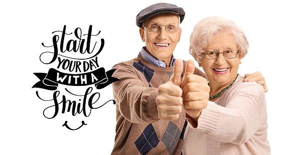 Seniors thumbs up