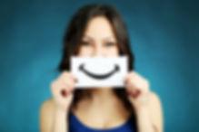 Girl Smile logo, paper smile