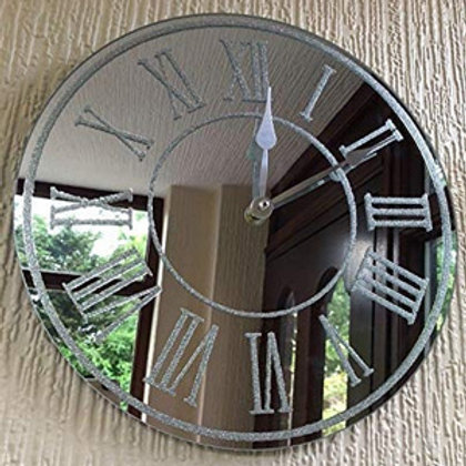 Wall mirror clock