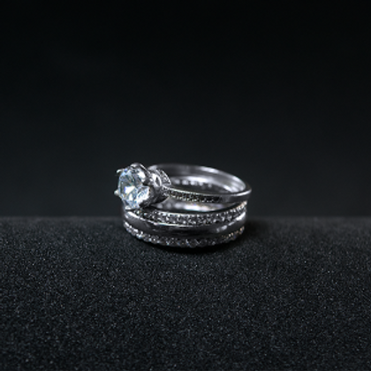Silver Ring 925 Rhodium Plating