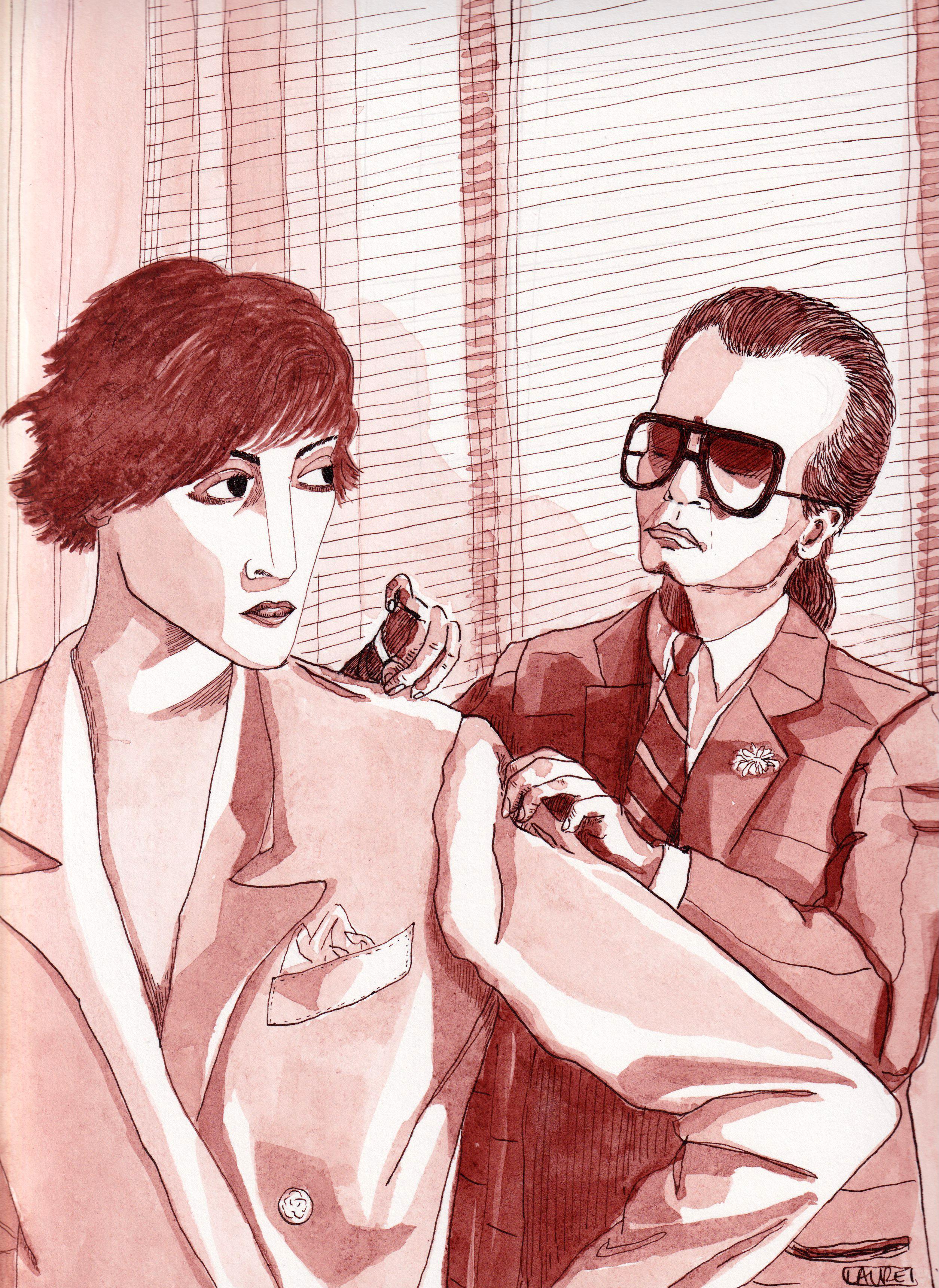 Karl Lagerfeld & Inès de la Fressange