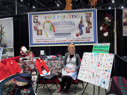 Proud Painter in her Holiday Booth