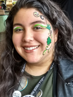 A lovely employed celebrating St. Patty's Day 2018 at Whole Foods Market in San Mateo