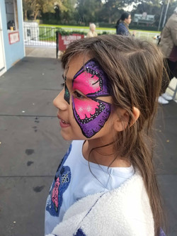 Hot Pink and Violet Butterfly
