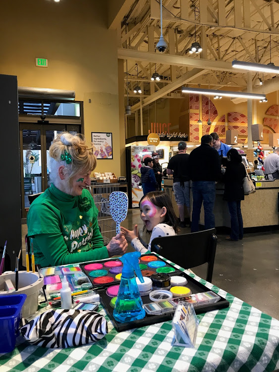 Awesome Mirror Moment at Whole Foods Market Redwood City on St. Patrick's Day 2018