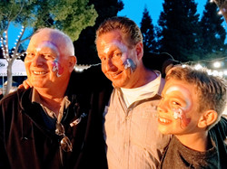 Several Generations join the face painting fun