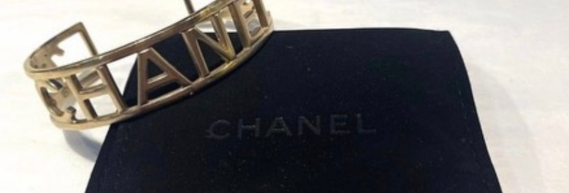2016 Chanel Gold Letters Cuff