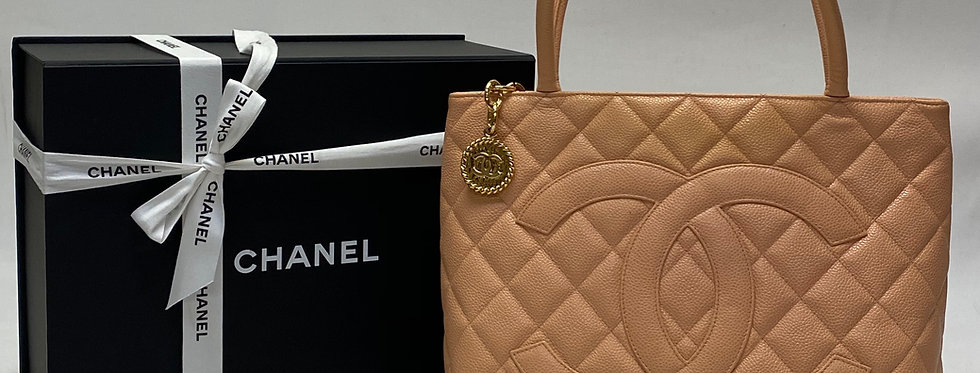 Chanel Quilted Caviar Quilted Medallion Tote