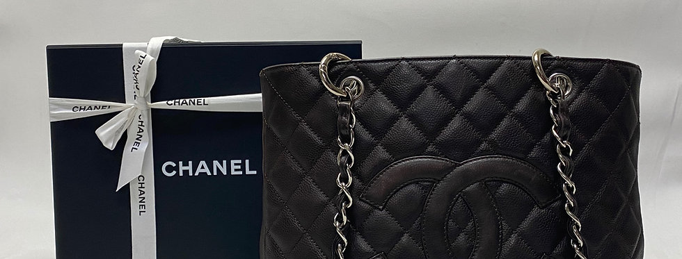 Chanel Quilted Caviar Grand Shopping Tote GST