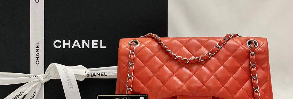 Chanel Limited Red Quilted Lambskin Ladybug Medium Flap Bag
