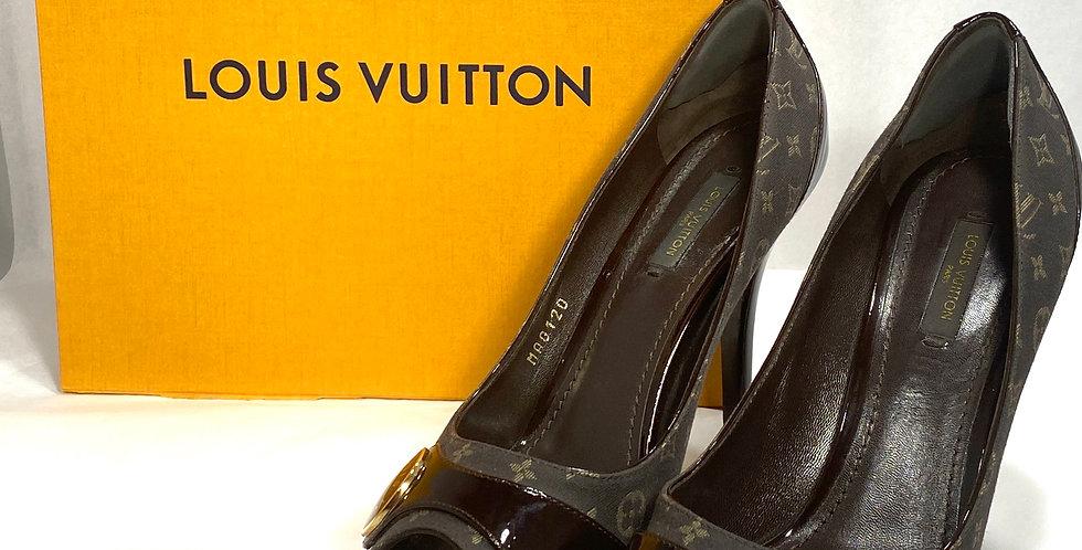 Louis Vuitton Monogram Idylle Judy Peep Toe Pumps