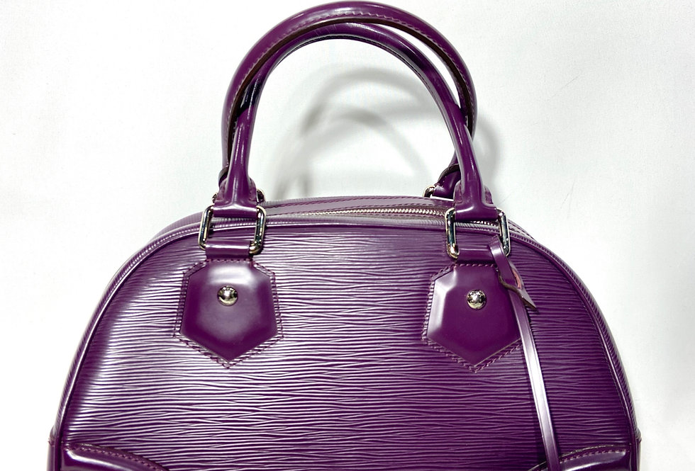 Louis Vuitton Purple Epi Bowling Montaigne PM