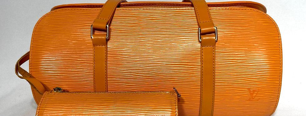Louis Vuitton Orange Epi Leather Soufflot