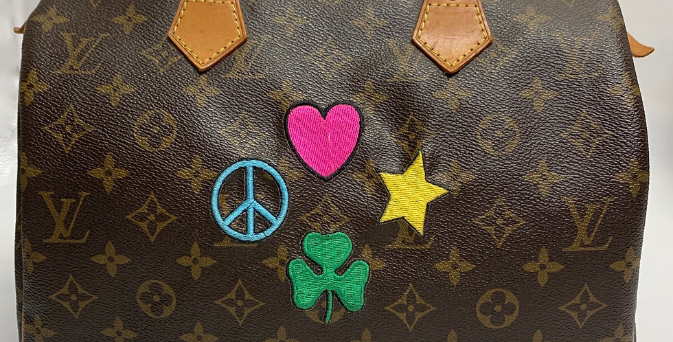 Louis Vuitton Monogram Speedy 30 Custom Embroidered Bag