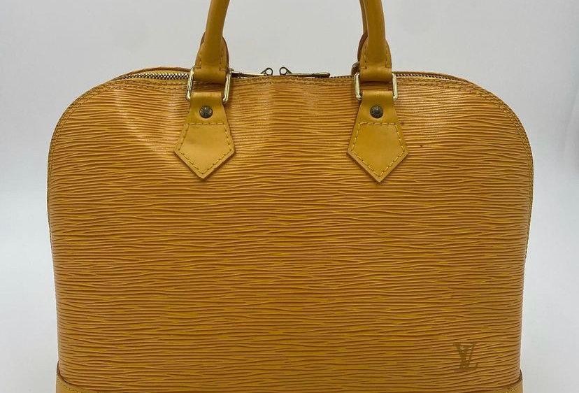 Louis Vuitton Yellow Epi Alma MM