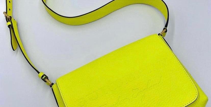 Burberry Burleigh Neon Yellow Crossbody Bag