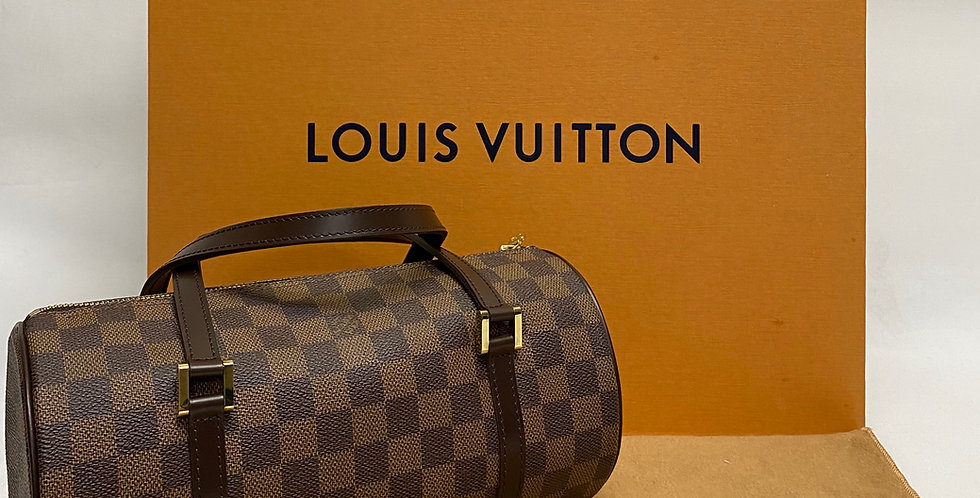 Louis Vuitton Papillon 26 Damier Ebene Tootsie Roll Bag