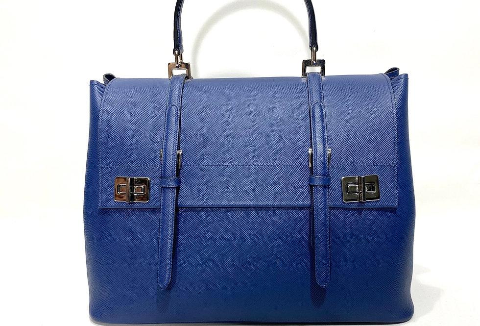 Prada Lux Saffiano Leather Large Flap Bag Fall 2014 Runway Bag