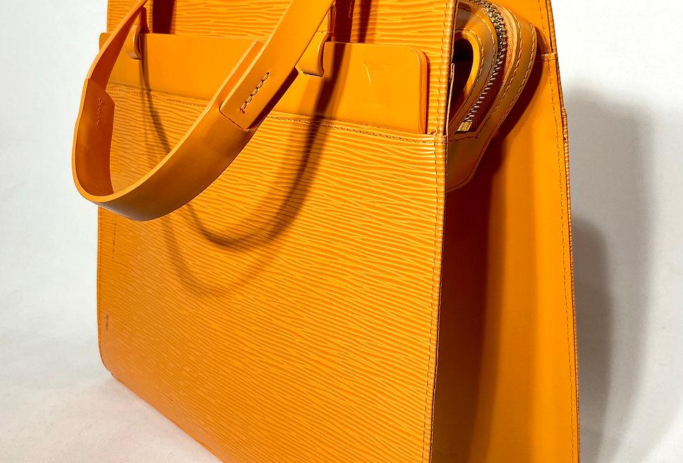 Louis Vuitton Orange Epi Leather Cruisette GM