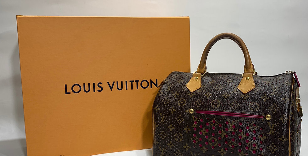 Louis Vuitton Monogram Perforated Speedy 30 Fuchsia