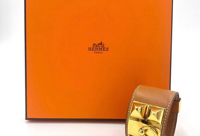 Hermès Collier de Chein Tan Bracelet