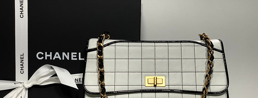 Chanel Black & White Chocolate Bar Reissue Shoulder Bag