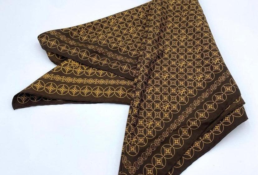Louis Vuitton Murakami Brown Silk Scarf