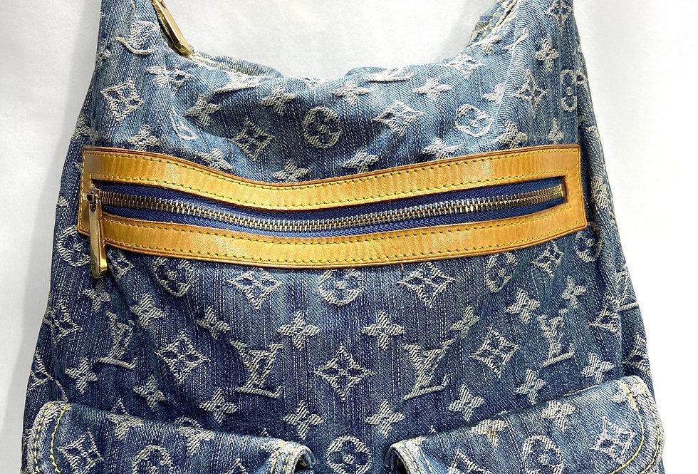 Louis Vuitton Denim Baggy GM Hobo Bag