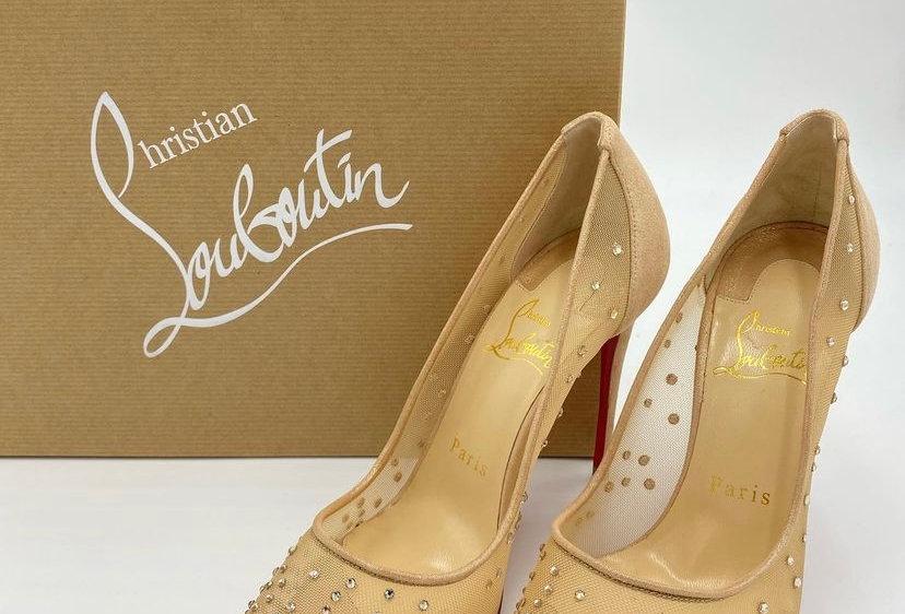 Christian Louboutin Follies Strass 100 Sparkly Heels