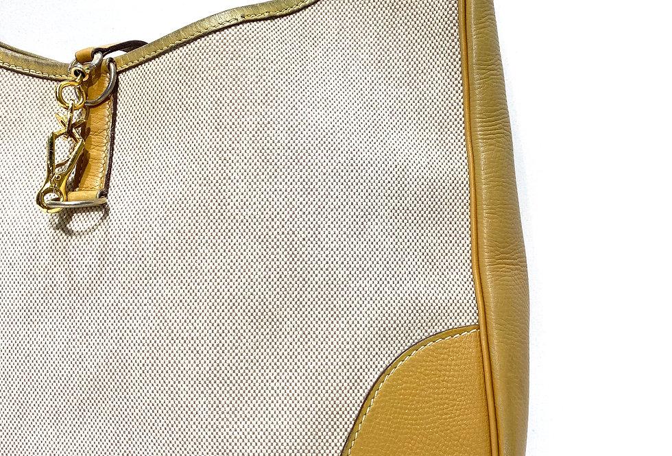 Hermès Vintage Toile Trim Bag 31