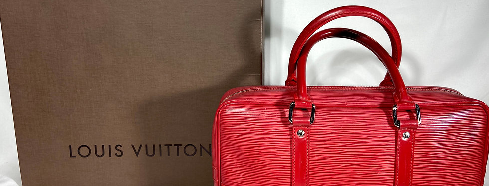 Louis Vuitton Epi Vivienne Long MM Rouge Red