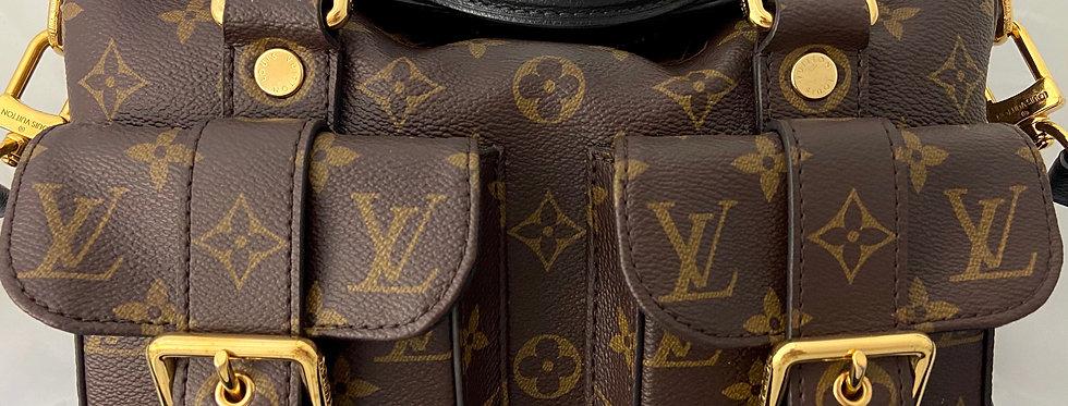 Louis Vuitton Monogram Canvas & Noir Leather Manhattan NM
