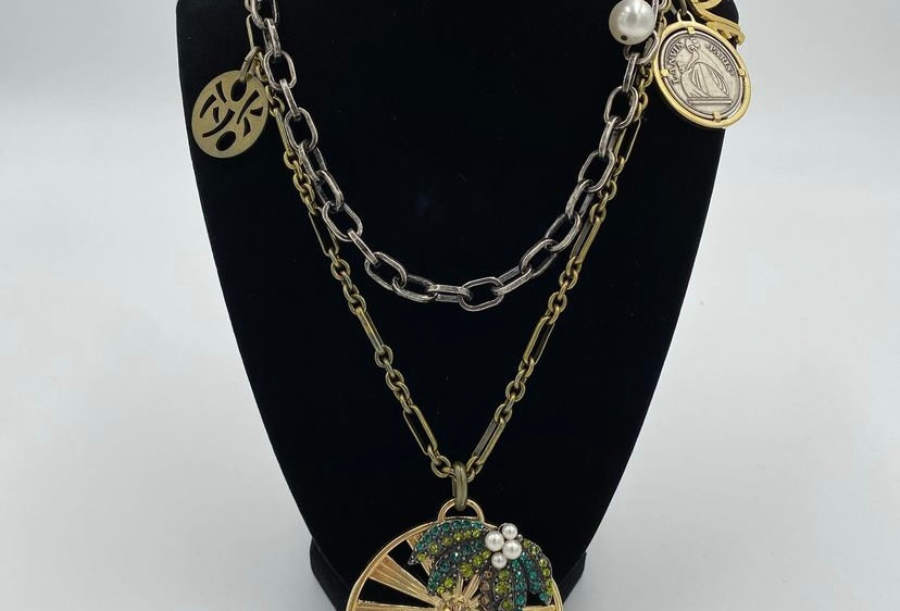 Lanvin Fun Sun Diamonte Miami Haute Couture Enamel Necklace