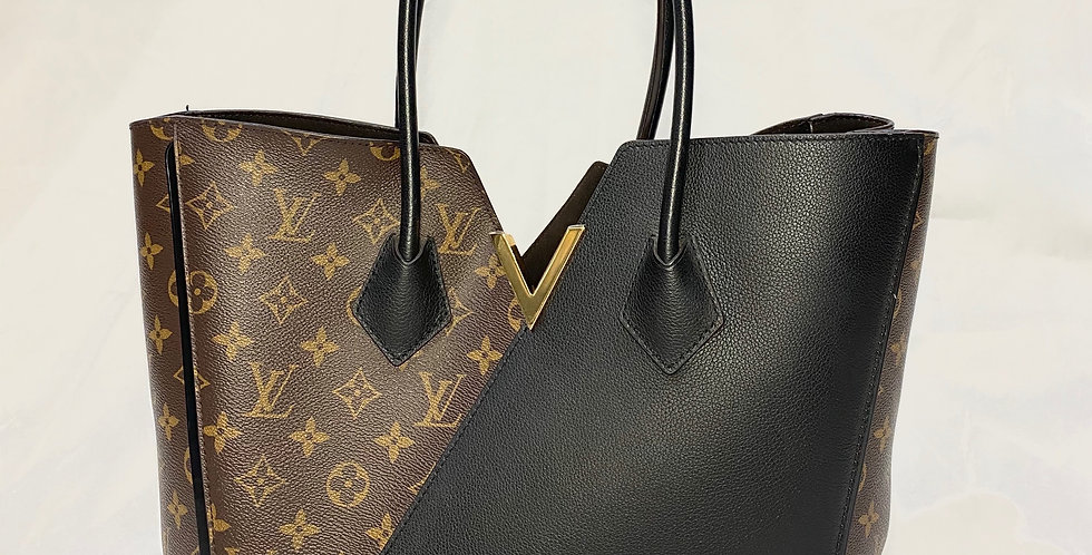 Louis Vuitton Kimono MM Monogram Canvas and Noir Calfskin Tote