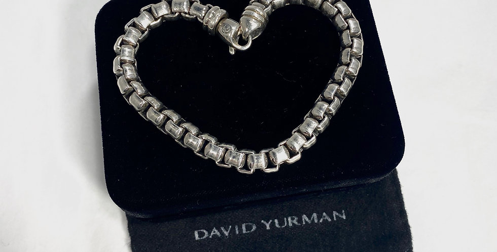 David Yurman Extra-Large Sterling Box Chain Bracelet, 7mm