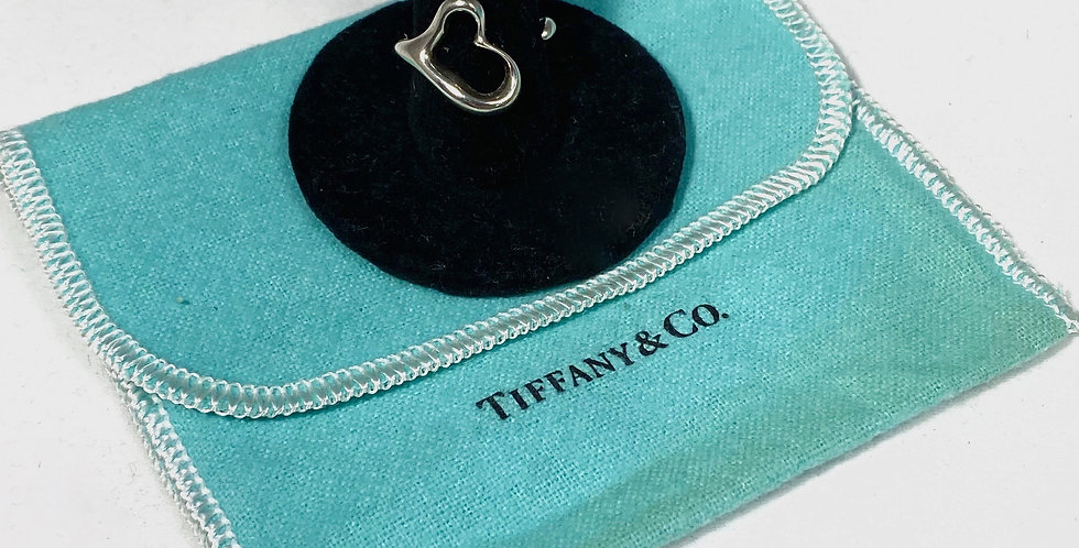 Tiffany & Co. Sterling Silver Elsa Peretti Open Heart Ring
