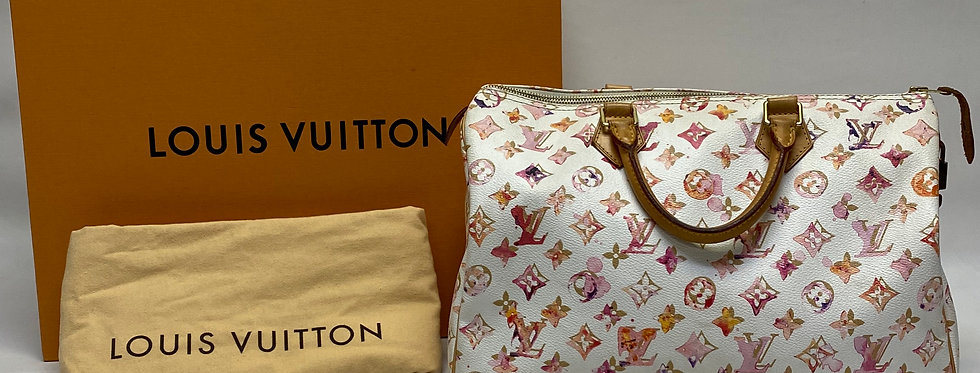 Louis Vuitton Richard Prince Limited Edition Monogram Watercolor Speedy 35