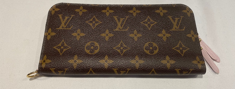 Louis Vuitton Monogram Fleuri Rose Insolite Wallet