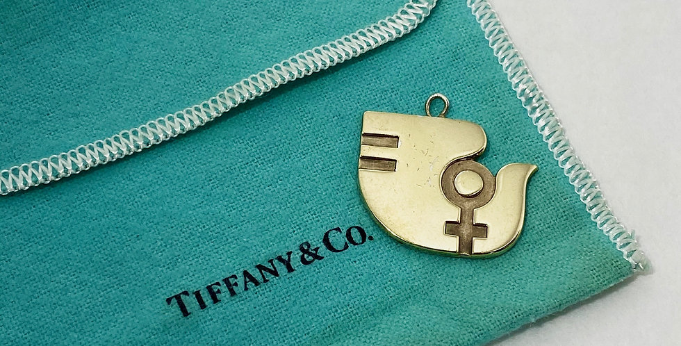 Tiffany Vintage Sterling 1975 UN Equality N.O.W. Dove Pendant