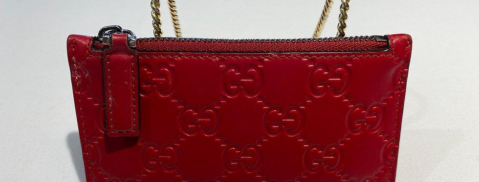 Gucci GG Guccissima Zip Top Slim Card Case