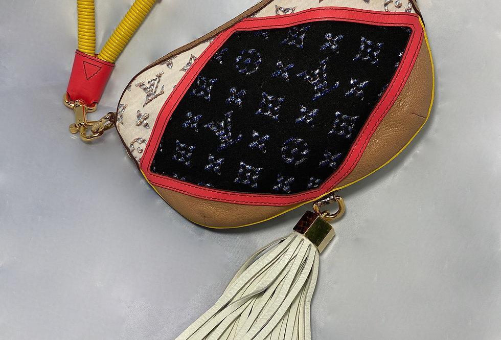 Louis Vuitton Nightbird Club Wrist Pochette Jacquard Python