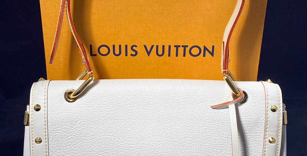 Louis Vuitton White Suhali Goatskin Le Talentueux Bag