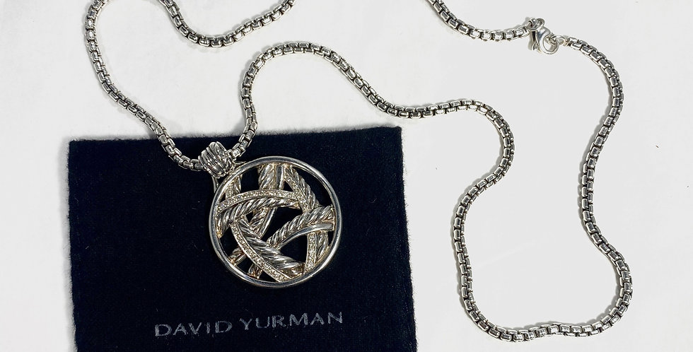 David Yurman Papyrus Enhancer Pave Diamonds and Box Chain