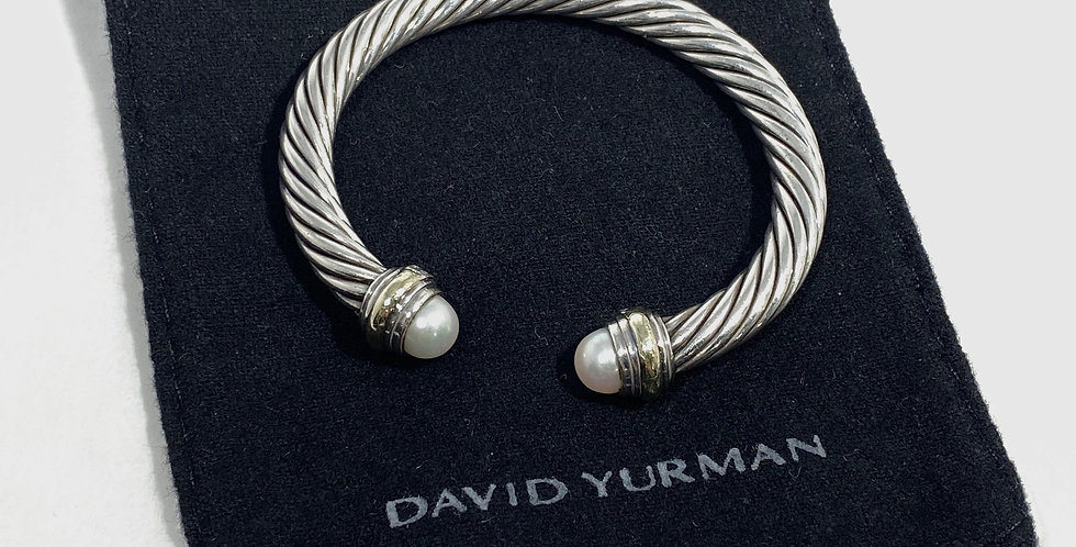 David Yurman Cable Classics Bracelet Sterling & 14K Gold 7mm