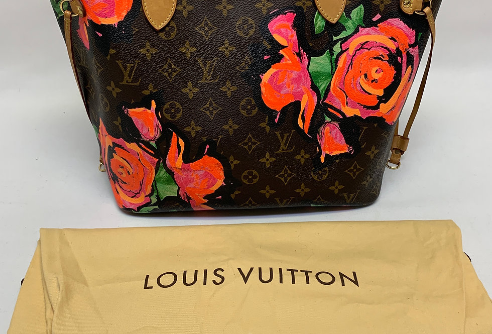 Louis Vuitton Monogram Stephen Sprouse Roses Neverfull MM Limited Edition
