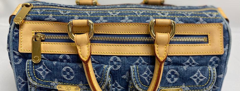 Louis Vuitton Monogram Blue Denim Neo Speedy