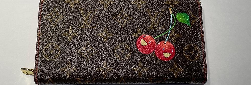 Louis Vuitton Monogram Cerises Porte-Monnaie Zippy Wallet *MINT*