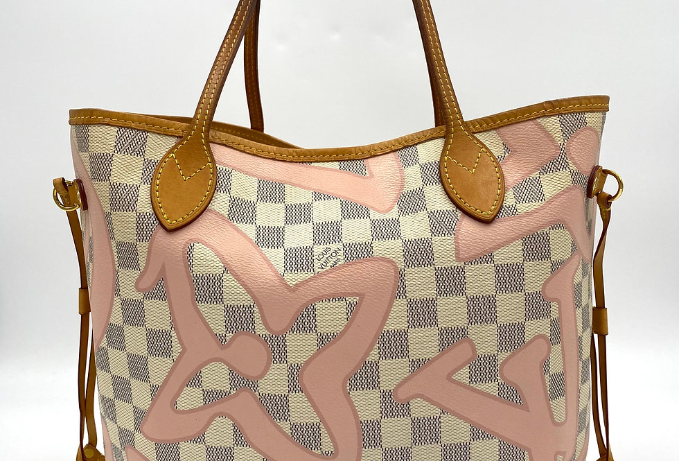 Louis Vuitton Tahitienne Damier Azur Neverfull MM Tote Bag