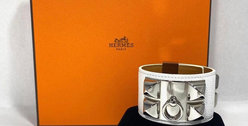 Hermès Collier de Chain White Bracelet